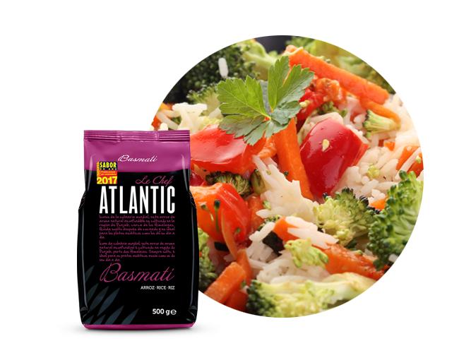 atlantic le chef arroz basmati com legumes ao vapor