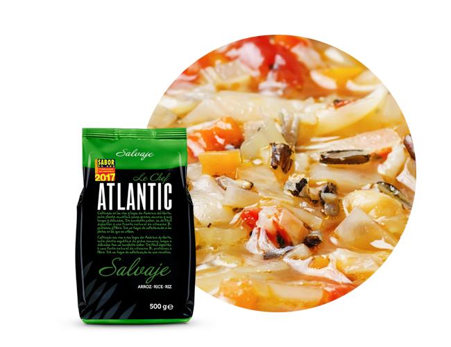 atlantic le chef sopa de arroz selvagem